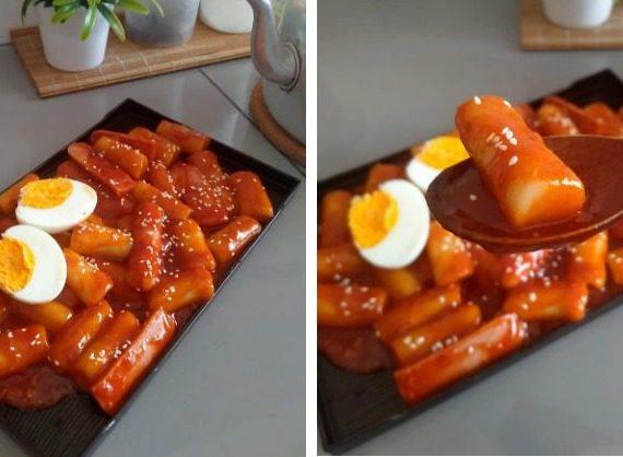 Resepi untuk membuat Topokki (Kek Beras Korea)