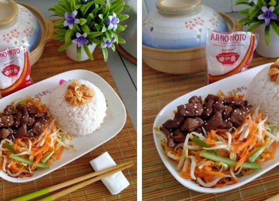 Resepi Beef Teppanyaki lengkap dengan rasa Ajinamoto