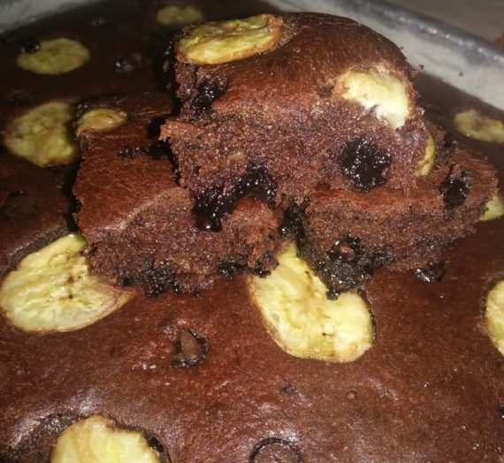 Cara membuat Kek Pisang Chocolate Moist