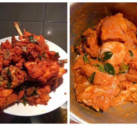 Cara membuat Ayam Goreng Berempah Mamak Style