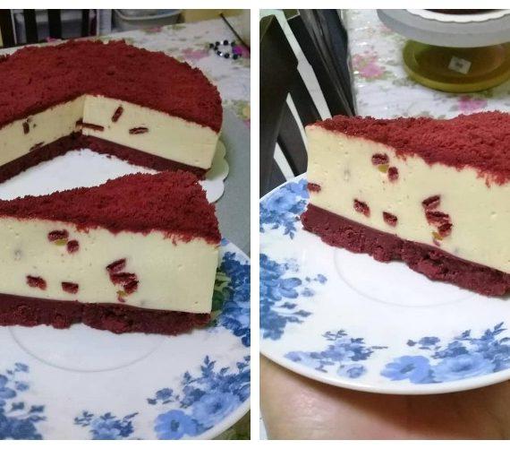 Resepi Red velvet Oreo Cheese Cake Tanpa Bakar