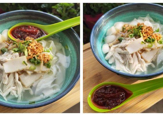 Cara dan Resepi untuk Membuat Kuey Teow Theng. Sesuai makan sejuk-sejuk ni.