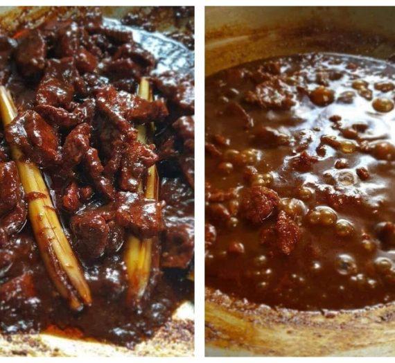 Resepi dan Cara membuat Daging Kicap Pedas