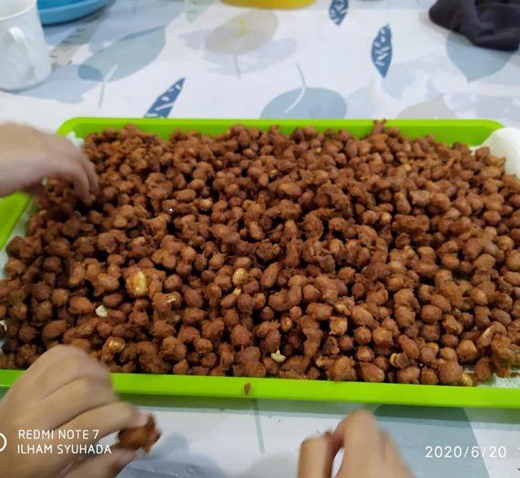 Resepi Kacang Tanah Bersalut Tepung Sedap untuk Kudapan