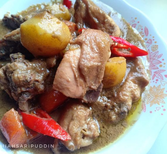 Resepi untuk membuat Kurma Ayam yang Sedap dan Pekat