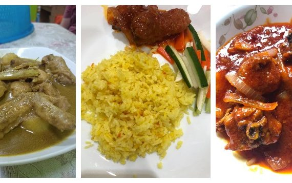 Resepi Nasi Minyak Kenduri bersama Gulai Kurma Ayam / Daging