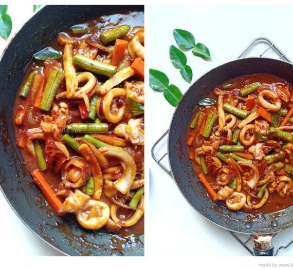 Resepi dan cara untuk membuat Sotong Paprik