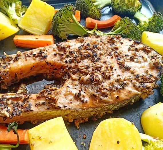Cara untuk membuat Blackpepper Roasted Salmon