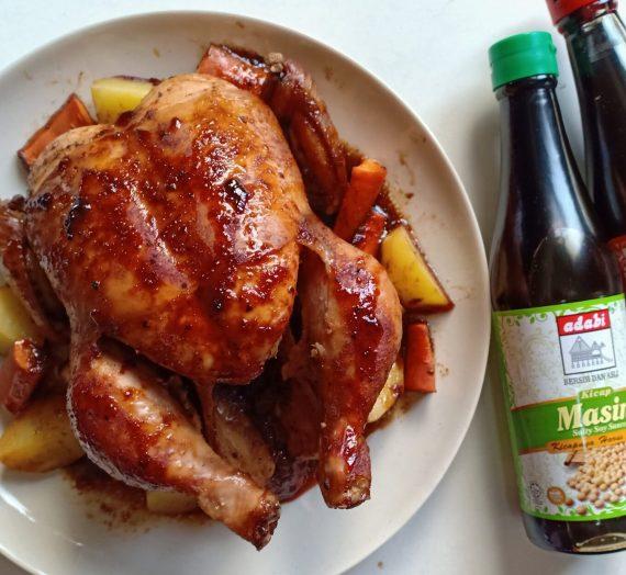 Cara untuk membuat Chicken Roasted / Ayam Bakar paling mudah tapi sedap