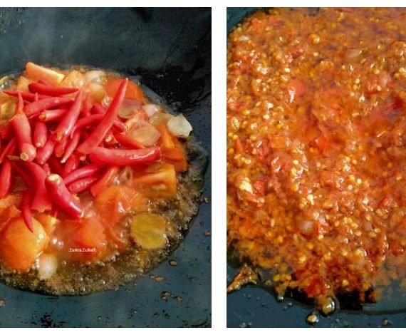 Cara membuat Sambal Penyet Tomato Pedas yang menyelerakan