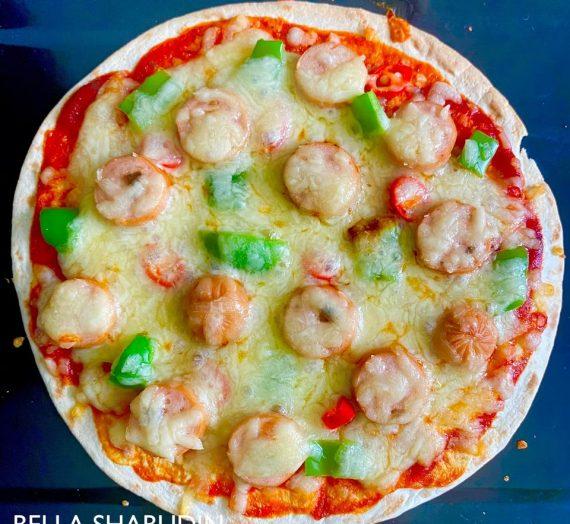 Pizza mudah menggunakan Roti Roll-up Wraps Gardenia