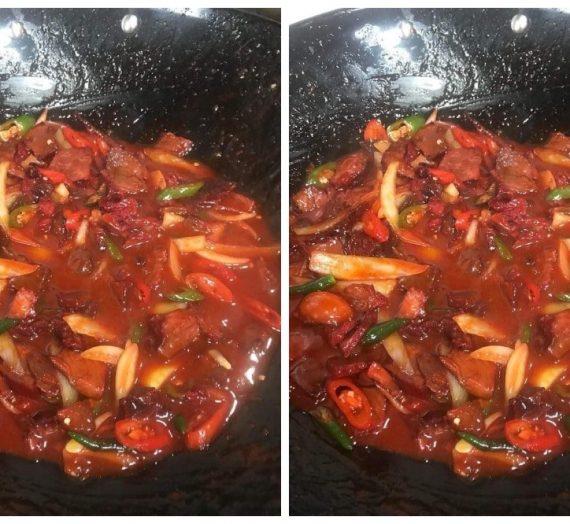 Resepi Daging Masak Merah. Sesuai dijadikan menu makan malam anda.