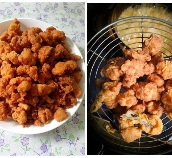 Cara untuk membuat Chicken Popcorn yang menjadi pembuka selera anak anda.