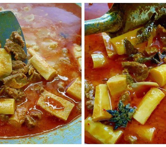 Cara untuk membuat Daging Masak Kari Rebung Madu. Sesuai untuk makan tengahari dan malam anda.