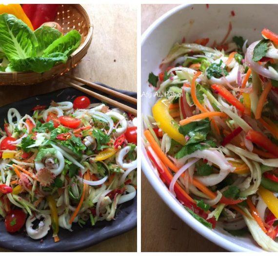 Cara dan Resepi Kerabu Sotong Thai yang akan mengecurkan air liur anda. Memang terbaiklah!