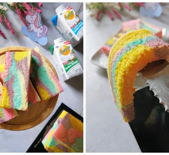 Cara untuk membuat Kek Pandan Unicorn berwarna-warni. Bau kek ni bila masak memang membuka selera terus.