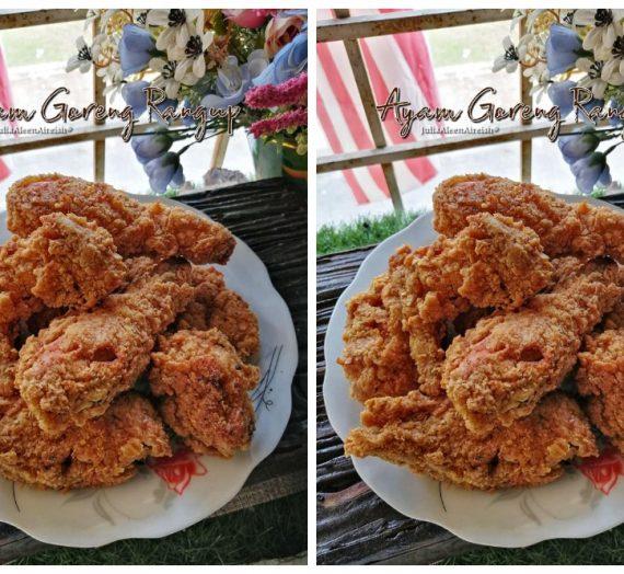 Cara untuk membuat Ayam Goreng rangup berjus. Menu kegemaran semua terutamanya anak anda.