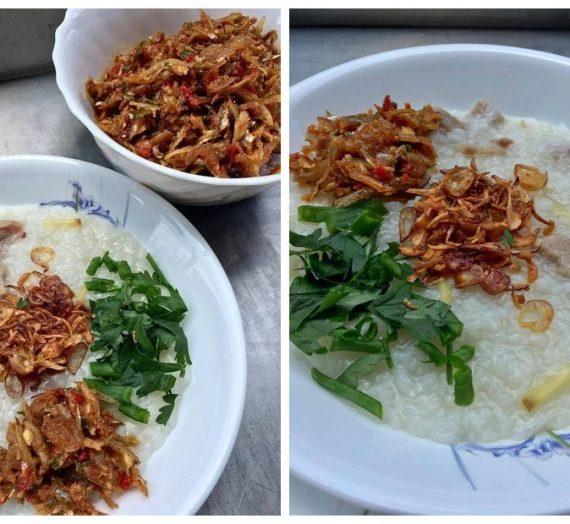 Cara untuk membuat Bubur Nasi bersambal yang sangat menyelerakan.