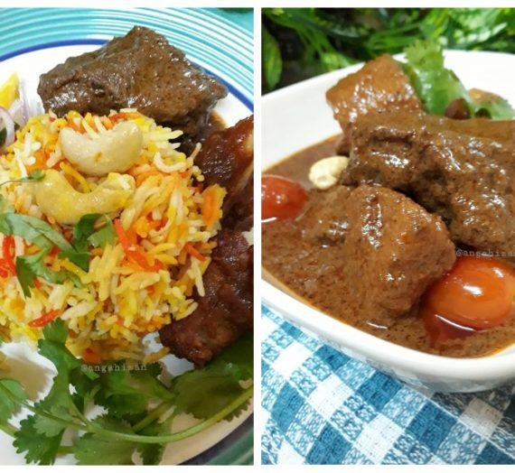 Cara untuk membuat Nasi Minyak yang mudah bersama resepi Daging Masak Briyani.