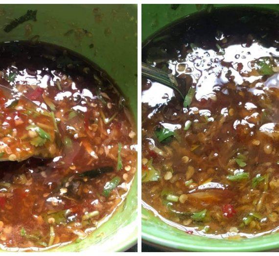 Cara untuk membuat Sos Miang Pla Pao Thai. Sos Pencicah yang sangat padu dan mengasyikkan.