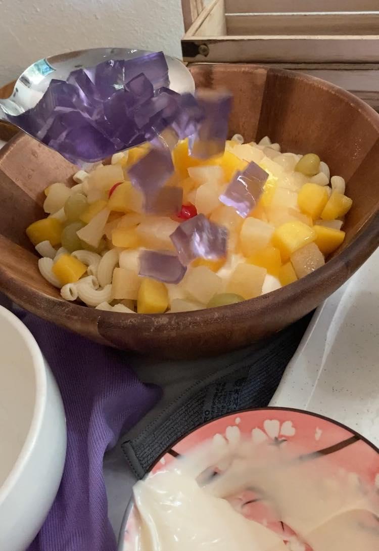 membuat salad makaroni buah salad popular  negeri sabah  resepi Resepi Makaroni Goreng Mayonis Enak dan Mudah