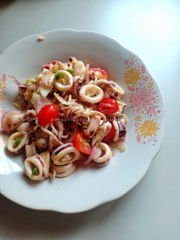 resepi kerabu sotong  menggunakan sos ikan  resepi Resepi Cheese Kek Pelangi Enak dan Mudah