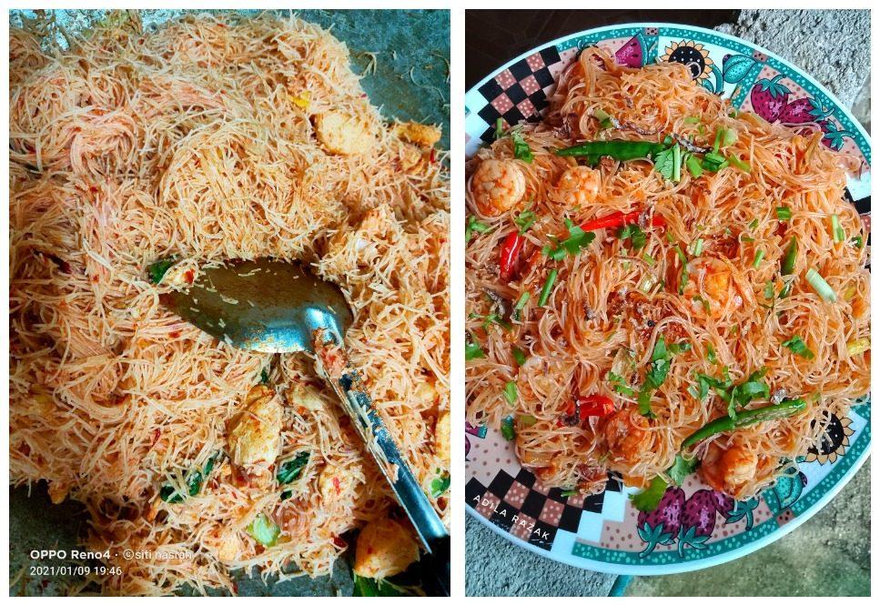 membuat bihun goreng kampung  memenuhi citarasa    resepi Resepi Bihun Goreng Kampung Enak dan Mudah